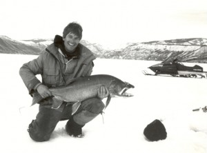 26 lb Lake Trout, Pinedale, Wyoming, March 1995