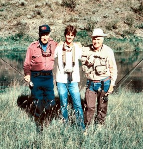 Lee Wulff, Jeff Currier, and Curt Gowdy