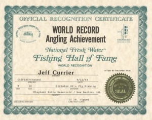 Fly Rod World Record Channel Catfish, 1993