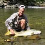 IGFA World Record, 27lb Golden Mahseer, Ramganga River India, May 2008