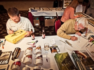 Fly-Fishing-artists-Jeff-Currier-and-Dave-Whitlock