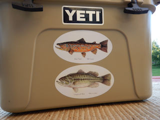 """Fly Fishing Sticker /""""Big Hole River/"""" oval decal"""